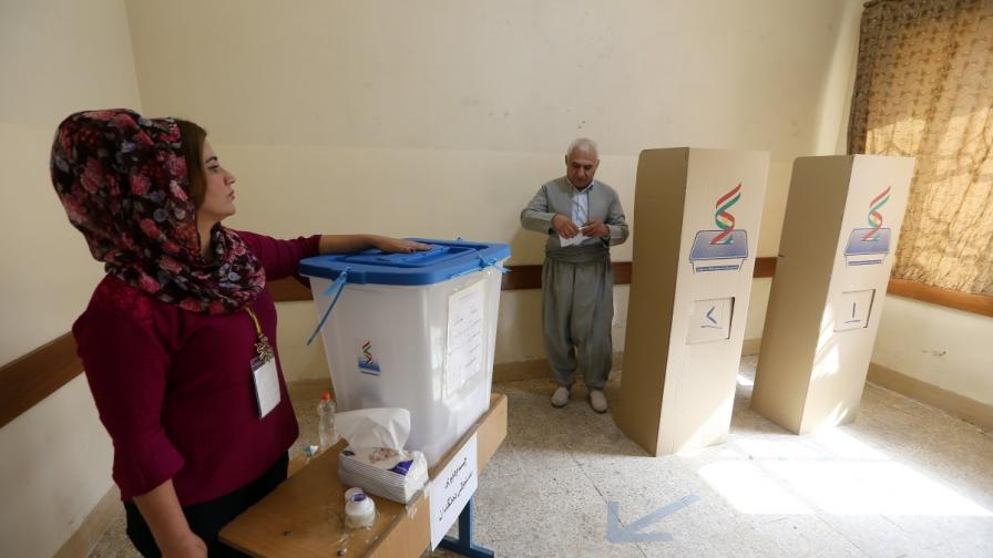 Гласуването в Иракски Кюрдистан върви с пълна сила