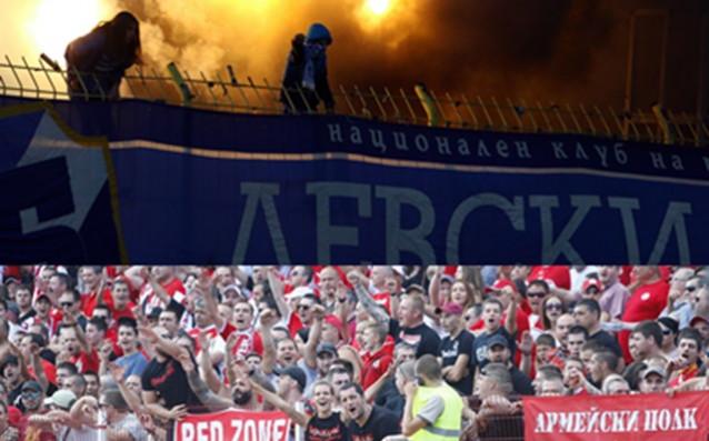 Феновете на Левски и ЦСКА източник: LAP.bg