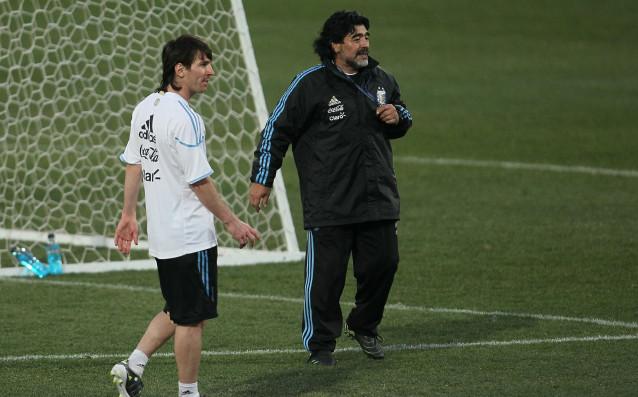 Марадона и Меси източник: Gulliver/GettyImages