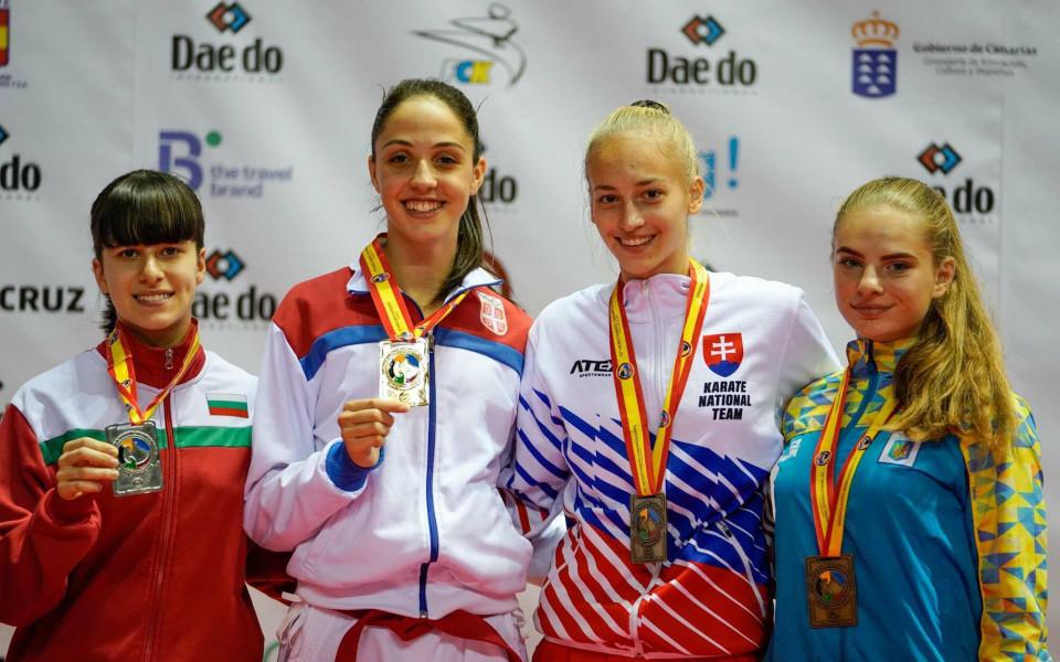 Исторически медали за наши каратеки от Световното в Испания