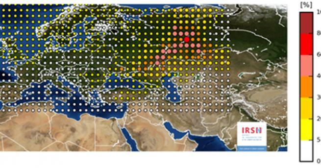 Облак с радиоактивно замърсяване премина над Европа през последните седмици.
