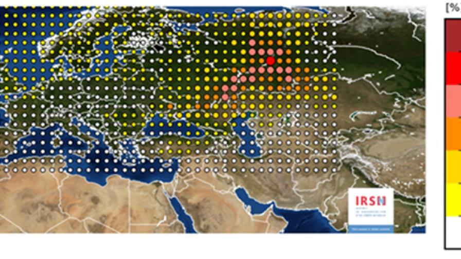 Радиоактивен облак от Русия или Казахстан е преминал над Европа