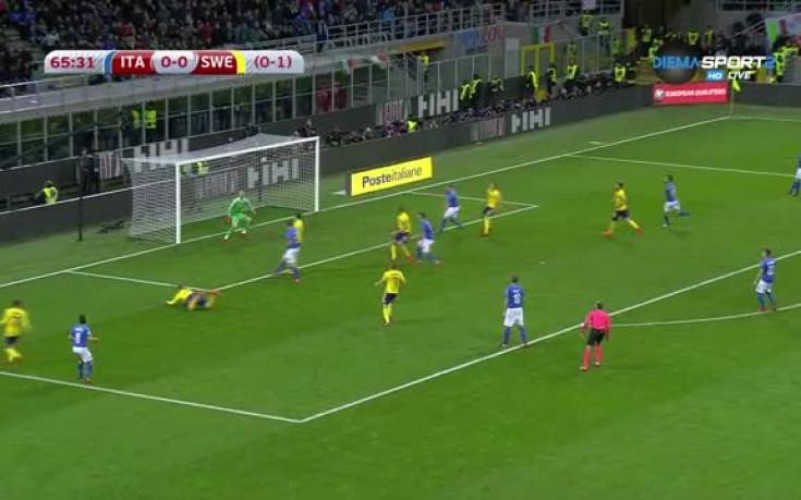 Италия - Швеция 0:0 /репортаж/
