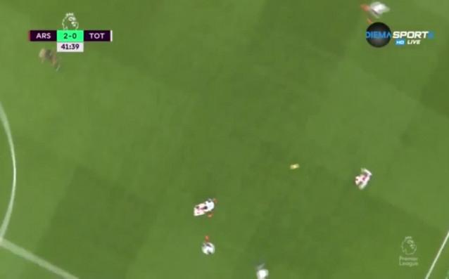 Арсенал - Тотнъм 2:0 /първо полувреме/