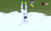 Снежна детска радост за Минчев след гола