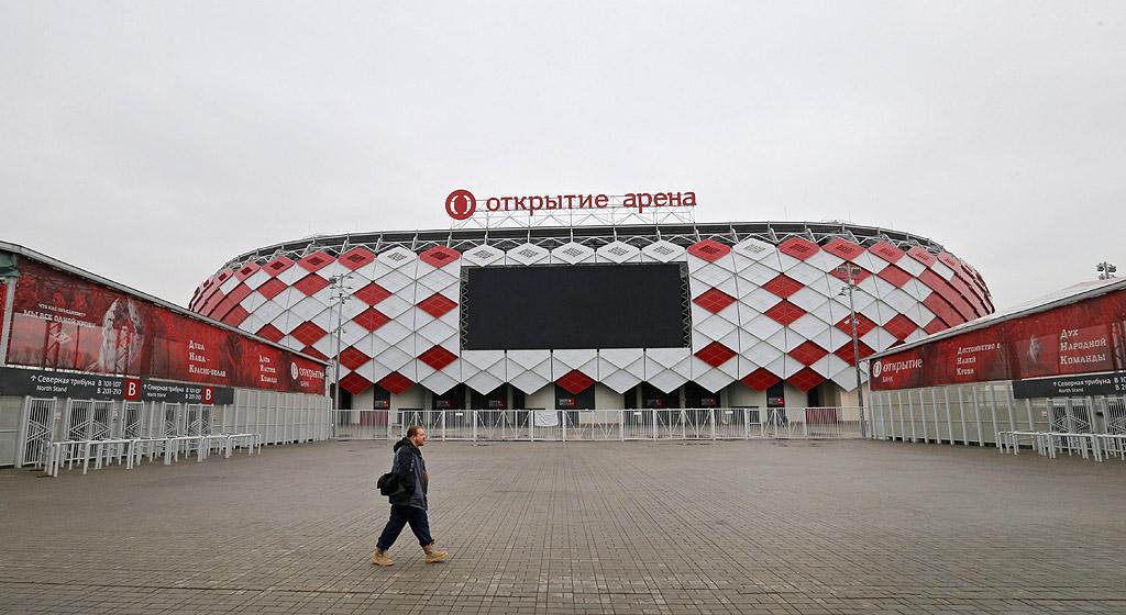 """""""Откритие Арена"""", Москва. Москва е единственият от всички градове участници в Световното 2018, който ще се представи с два стадиона. Освен на легендарния """"Лужники"""", футболни срещи ще се играят и на """"Откритие Арена"""". Това е стадионът на най-известния руски футболен клуб - """"Спартак Москва"""". Открит е през 2014."""