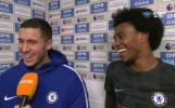 Усмивки в лагера на Челси след успеха над Хъдърсфийлд
