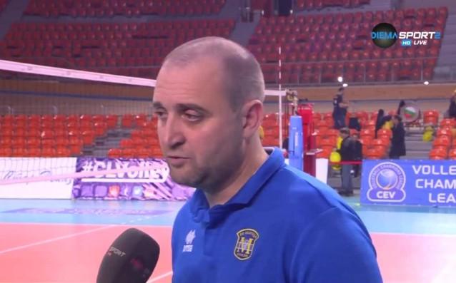 Старши треньорът на Марица Пловдив Иван Петков коментира поражението с