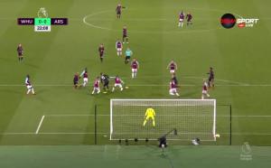 Уест Хем - Арсенал 0:0 /първо полувреме/
