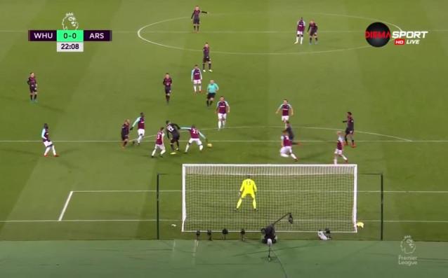 Уест Хем – Арсенал 0:0 /първо полувреме/, 17-ти кръг Висша