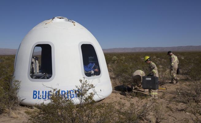 Blue Origin успешно тества космическата си капсула