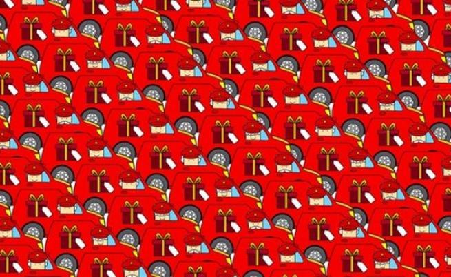 Оптическа илюзия: ще откриете ли Дядо Коледа?