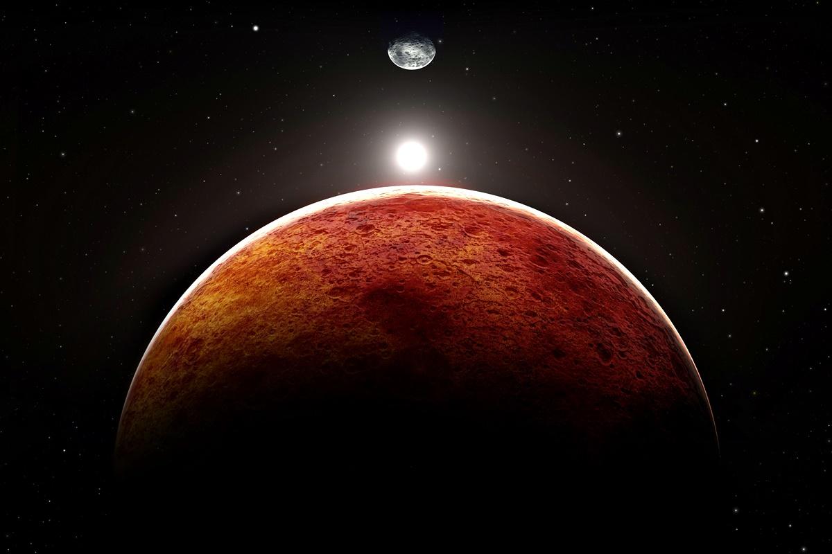 """Марс<br /> """"На Марс е доста студено, но въздухът е много разреден, затова студът не би се усещал толкова смразяващо както на Земята"""", разяснява Нийл деГрас.<br /> С доста дебели дрехи човек би оцелял на Марс също колкото на Меркурий – колкото успее да задържи дъха си, или около 2 минути."""