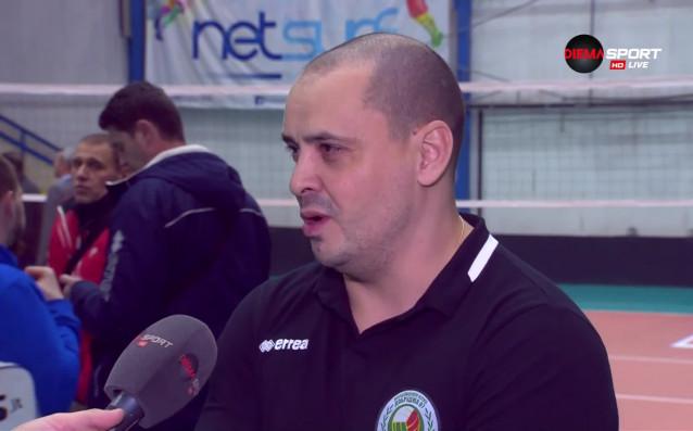 Старши треньорът на ВК Добруджа Петър Пенев не скри задоволството
