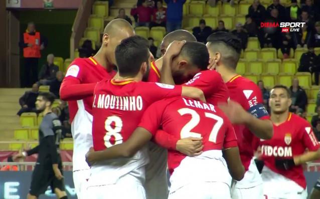 Монако покачи на 2:0 с хубав и премерен удар в