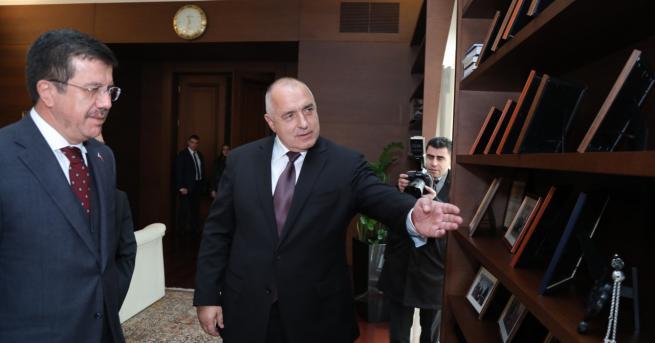 Премиерът Бойко Борисов и министърът на икономиката на Турция Нихат