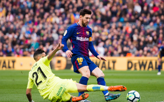 Футболистите на Хетафе /в жълто/ обичат да мятат шпагати срещу грандовете<strong> източник: Gulliver/Getty Images</strong>