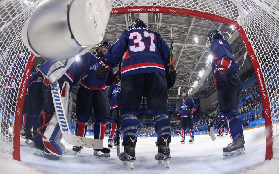 Сборният хокеен тим на Корея с исторически гол на Игрите
