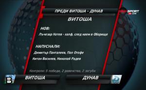Витоша приема Дунав в битката на дъното