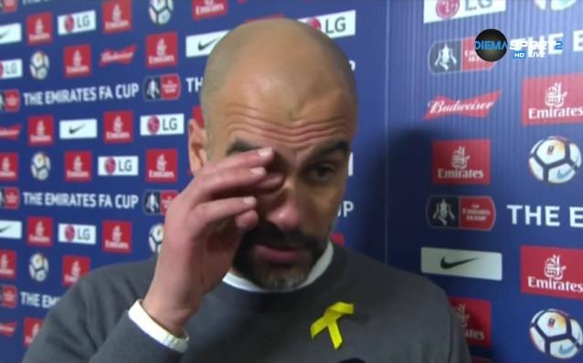 Мениджърът на Манчестър Сити Пеп Геардиола поздрави Уигън за победата