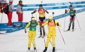 Българската смесена  щафета в биатлона 17-а, Франция шампион