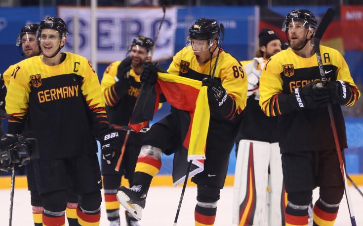 Германия изхвърли Швеция от хокейния турнир в Пьонгчанг