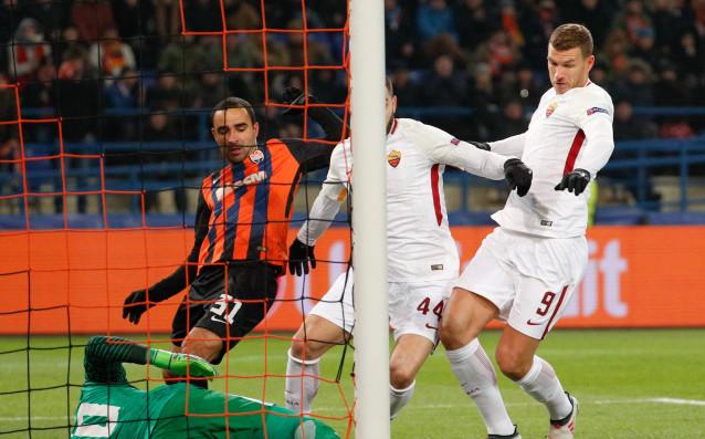 Рома водис 1:0 при гостуването на Шахтьор Донецкв първия осминафинален