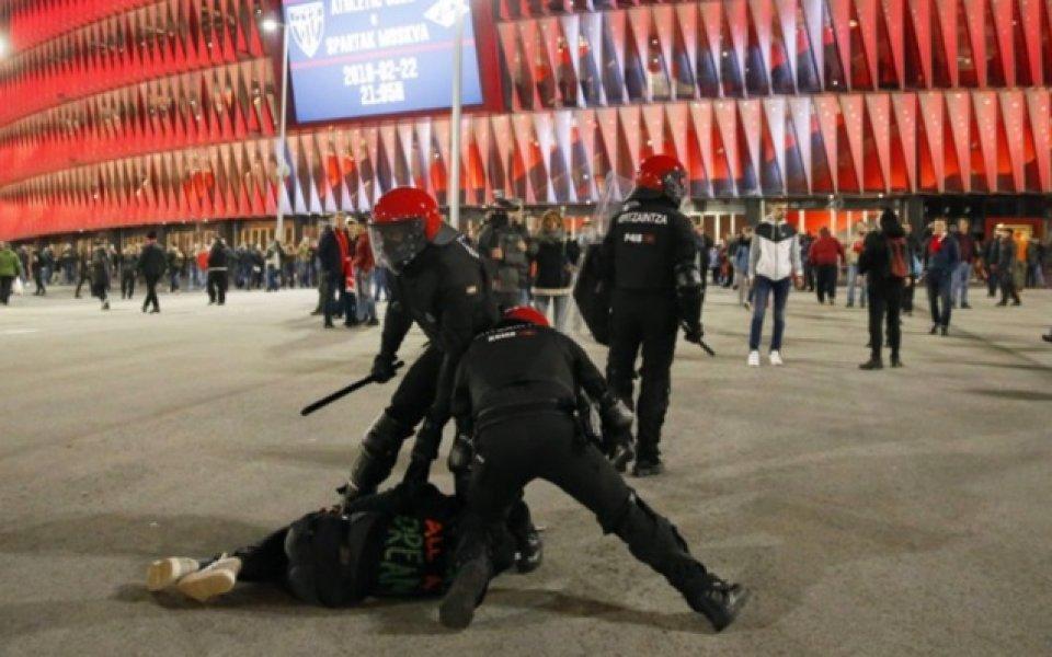 Деветима са арестувани след сблъсъците в Билбао