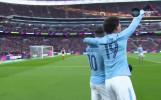 Кун Агуеро изведе Сити напред във финала за Купата на Лигата