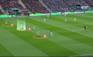 Анализ на гола на Агуеро във финала с Арсенал
