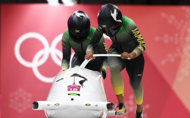 Двете ямайски състезателки в бобслея<strong> източник: Gulliver/GettyImages</strong>