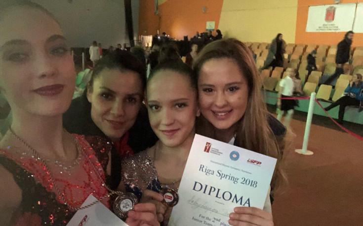 Грациите носят сребро в отборната надпревара в Рига