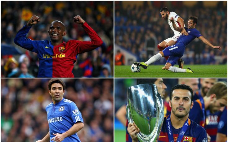 Футболистите, носили екипите на Барса и Челси