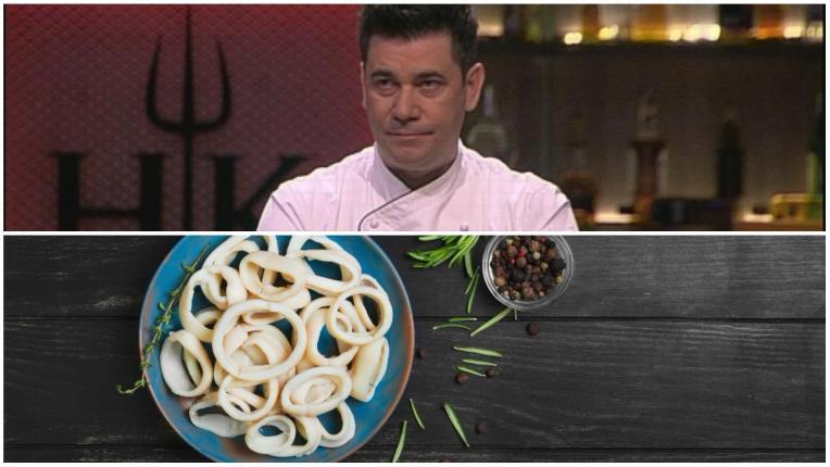 Рецептите от Hell's Kitchen: Хрупкави калмари върху белуга леща