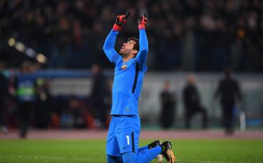 Алисон излетя за Ливърпул, благодарен е на Рома