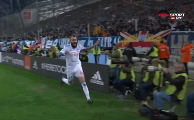 Костас Митроглу върна равенството в Марсилия, бележейки за 2:2 в