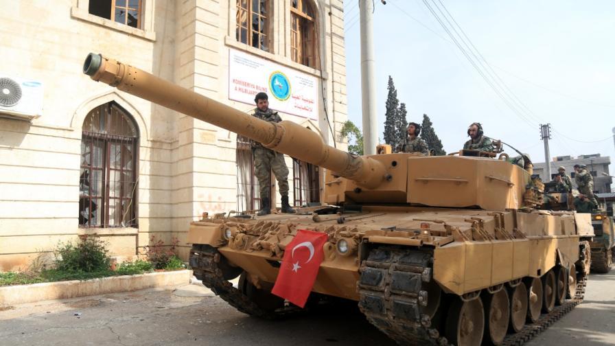Турски танк в Африн