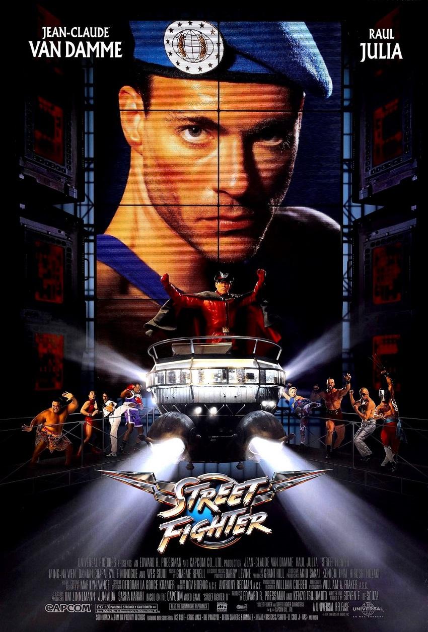 Street Fighter – Датиращ още от 1994 година, тази смехотворно анимиран екшън до голяма степен се е превърнал в култова класика заради забавните истории от продукцията на лентата. Говори се, че звездата на филма Жан-Клод Ван Дам е бил пиян през голяма част от снимачния процес, а умишленото преиграване на Раул Джулия в основната поддържаща роля е по-смешно от редица комедийни филми.