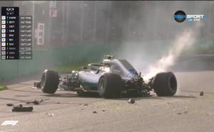 Смазан болид още в първата квалификация във Ф1