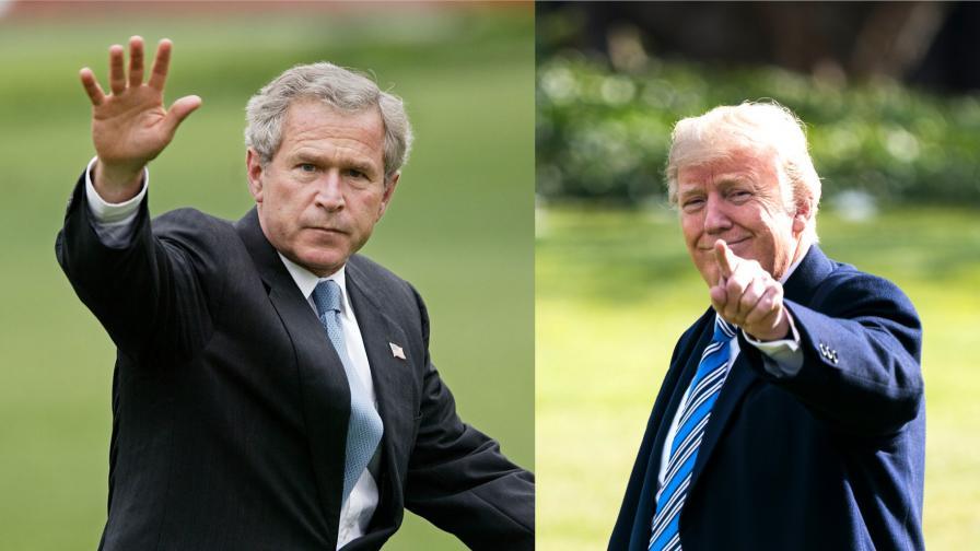 Джордж Буш-младши и Доналд Тръмп
