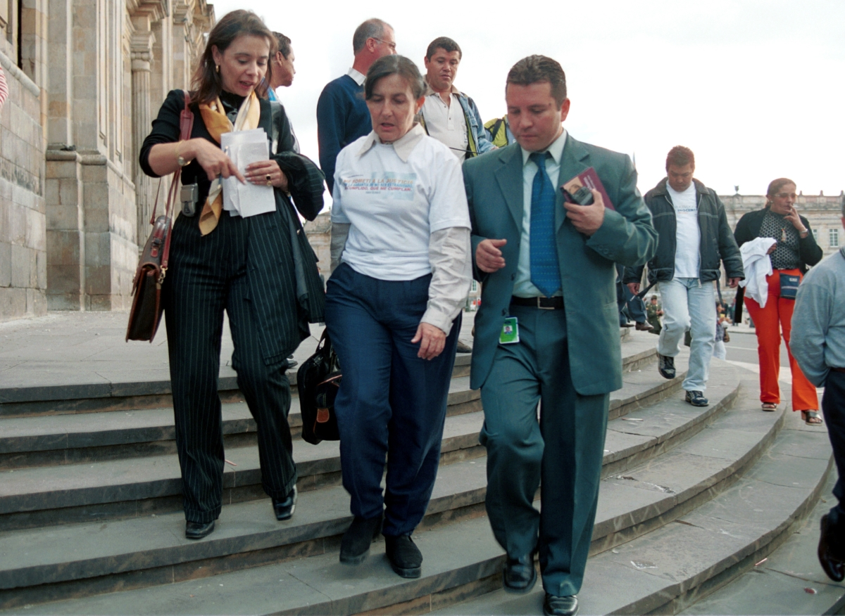 Това е Марта Очоа, сестрата на един от най-големите босове в Южна Америка, извикана да свидетелства по делото срещу брат й.