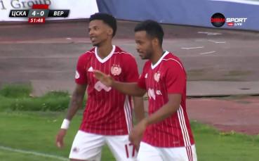 Алберг с втори гол срещу Верея и 4:0 за ЦСКА