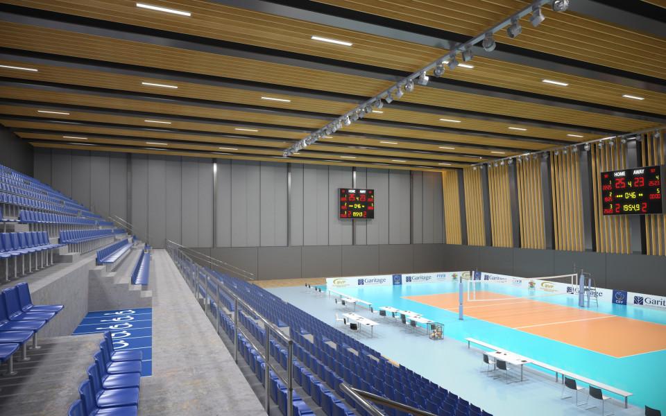 ВК Левски отбелязва втория етап от строителството на зала