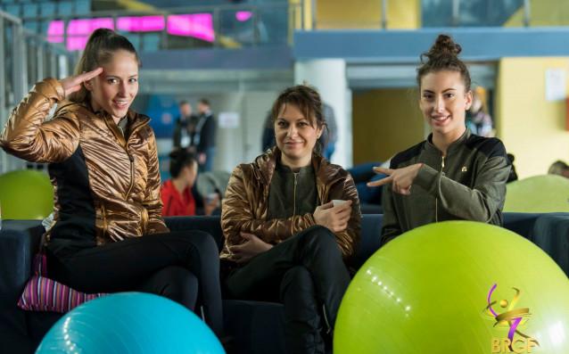 Бранимира Маркова, Катрин Тасева и Невяна Владинова източник: facebook.com/BGRGfederation