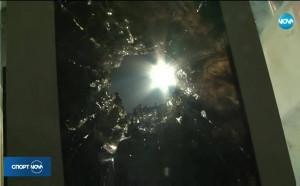 Стъкло се разбило директно в лицето на пострадалата полицайка