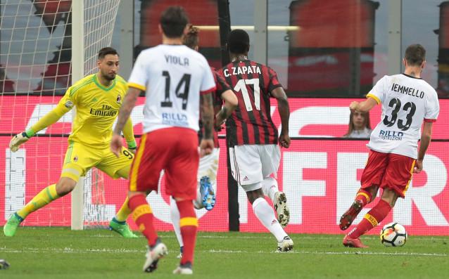 Милан допусна изключително конфузно поражение у дома срещу абсолютния аутсайдер
