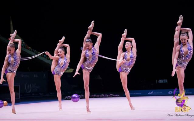 Ансамбълът на България по художествена гимнастика<strong> източник: facebook.com/BGRGfederation</strong>