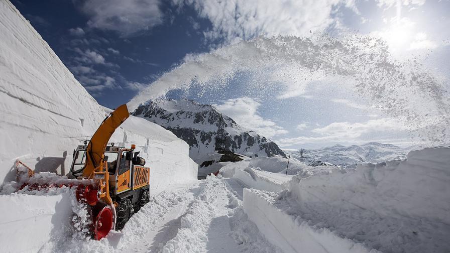 Снегопочистване в Алпите