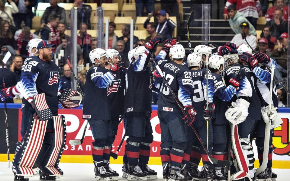 САЩ с четвърта поредна победа на световното по хокей на лед
