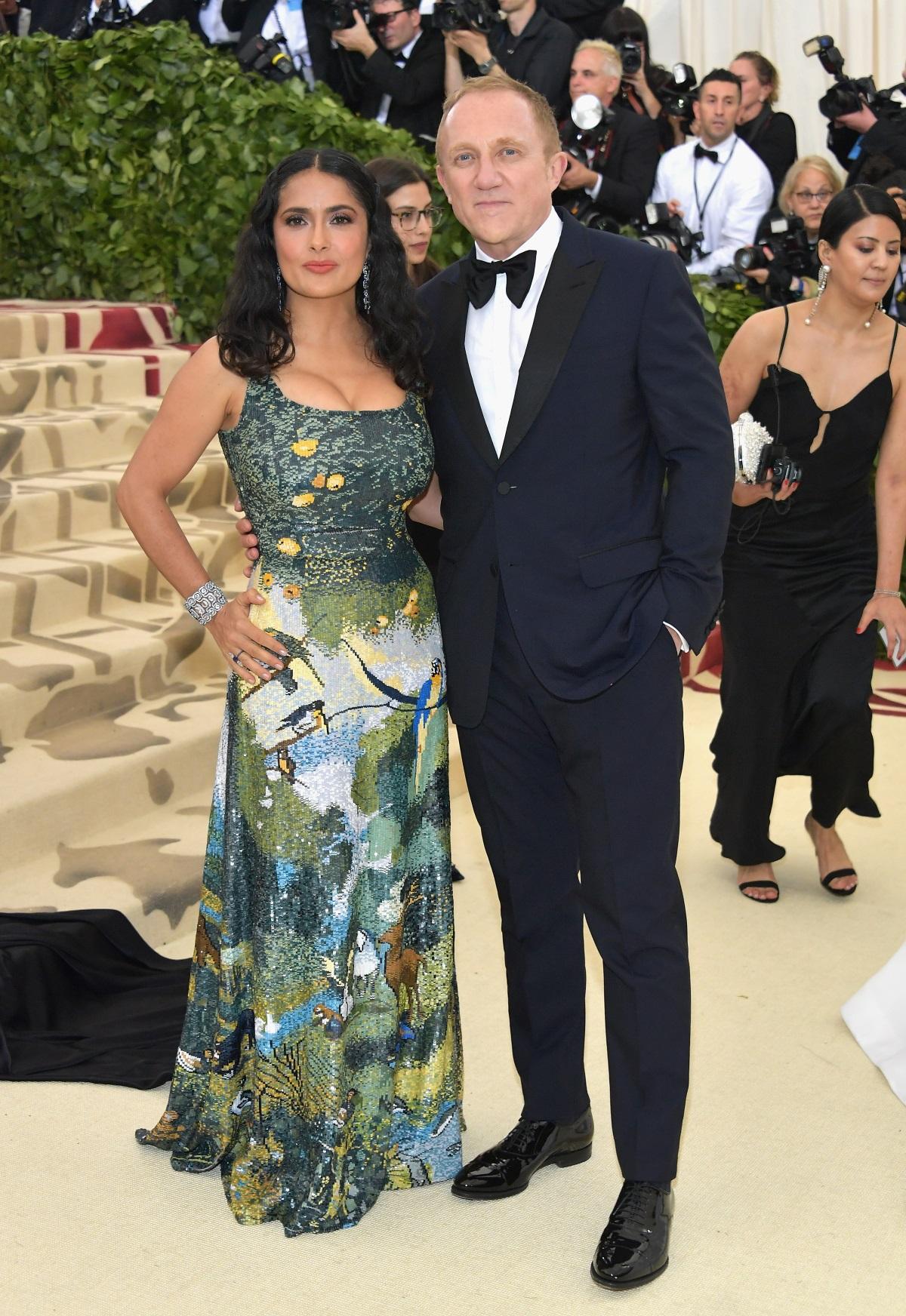 Салма Хайек със съпруга сиФрансоа-Анри Пино